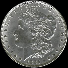 Authentic 1885 Morgan Dollar - Obverse