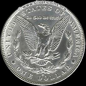 1885 morgan o silver dollar reverse
