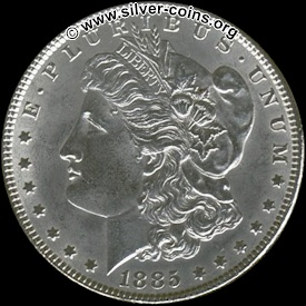 Authentic 1885 Morgan Dollar - Obverse