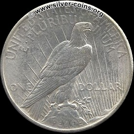 Authentic 1924 Peace Dollar – Reverse