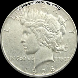 Authentic 1926 Peace Dollar - Obverse (Liberty)