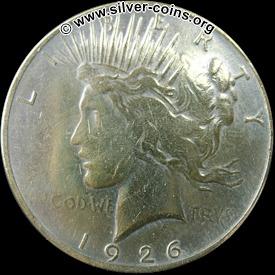 Counterfeit 1926 Peace Dollar - Obverse (Liberty)