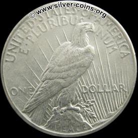Authentic 1926 Peace Dollar - Reverse
