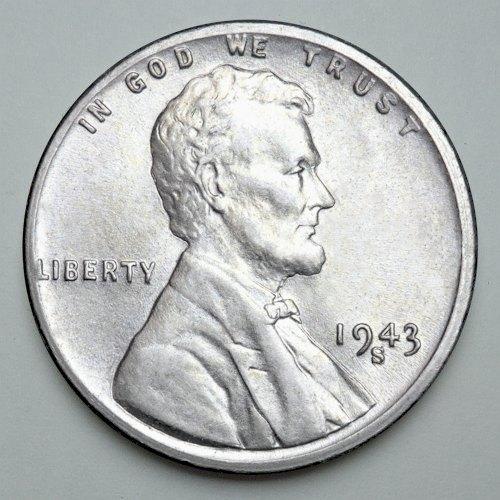1943 US Steel Penny Mintmark S - Obverse