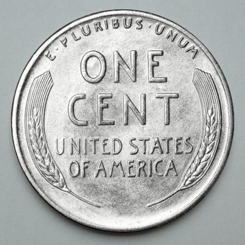 1943 US Steel Penny Mintmark S - Reverse