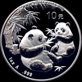 2006 panda coin reverse