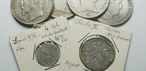 a lot of authentic french silver coins