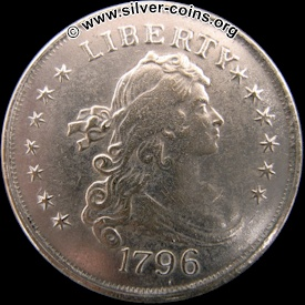 counterfeit 1796 draped bust dollar