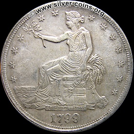counterfeit 1799 liberty seated trade dollar