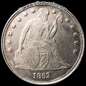 counterfeit 1862 liberty seated dollar