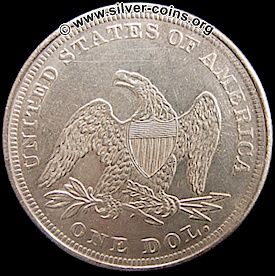 counterfeit 1862 liberty seated dollar reverse