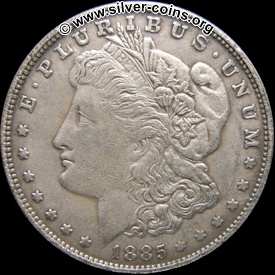 counterfeit 1885 morgan o dollar
