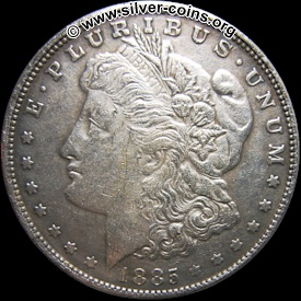Counterfeit 1885 Silver Trade Dollar Coin - Obverse