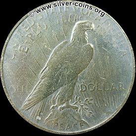 Counterfeit 1926 Peace Dollar - Reverse
