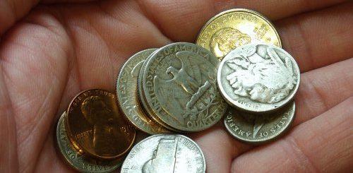 coin found in pocket change